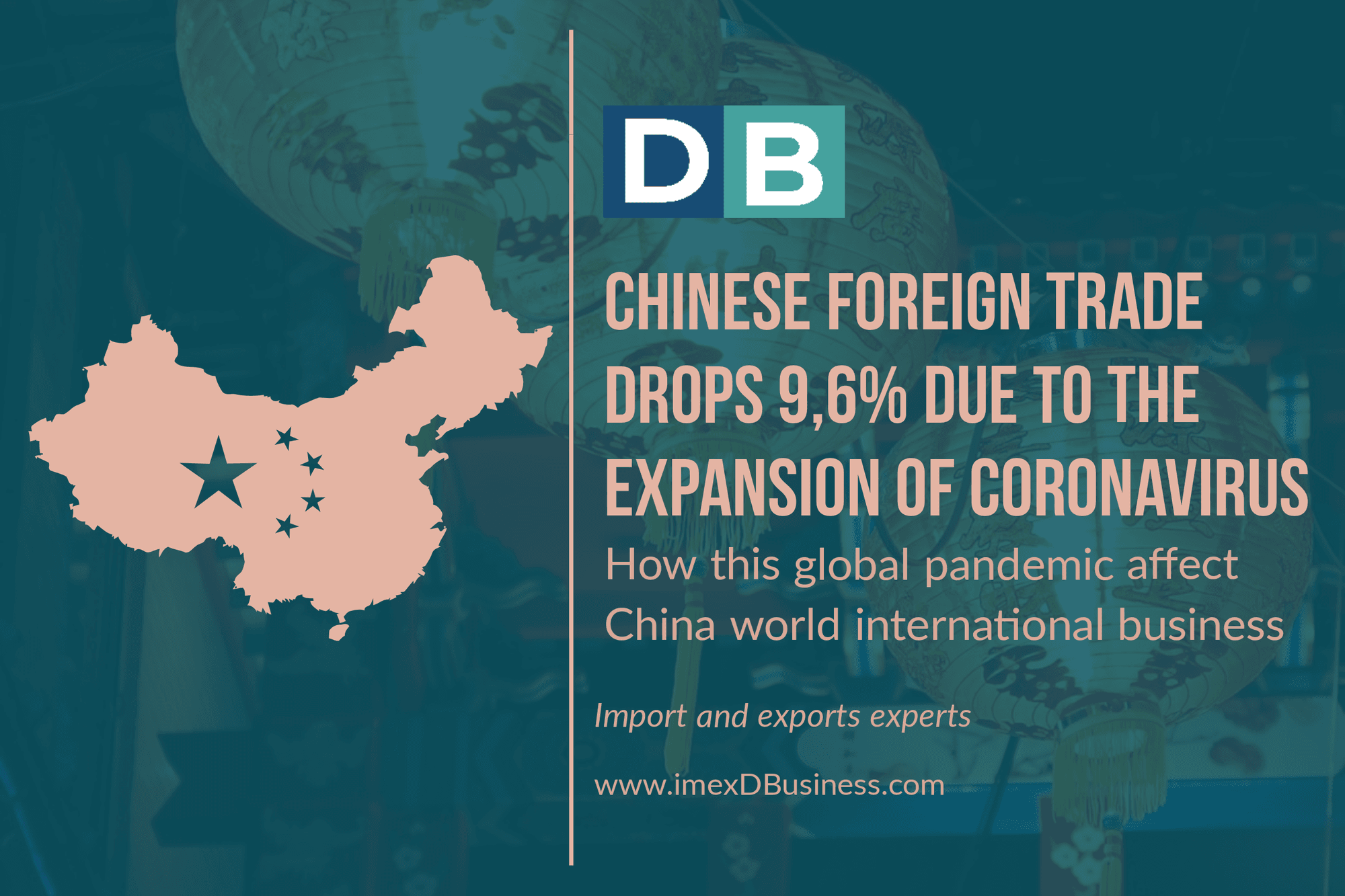 Chinese foreign trade Drops 9.6% due to the expansion of the coronavirus