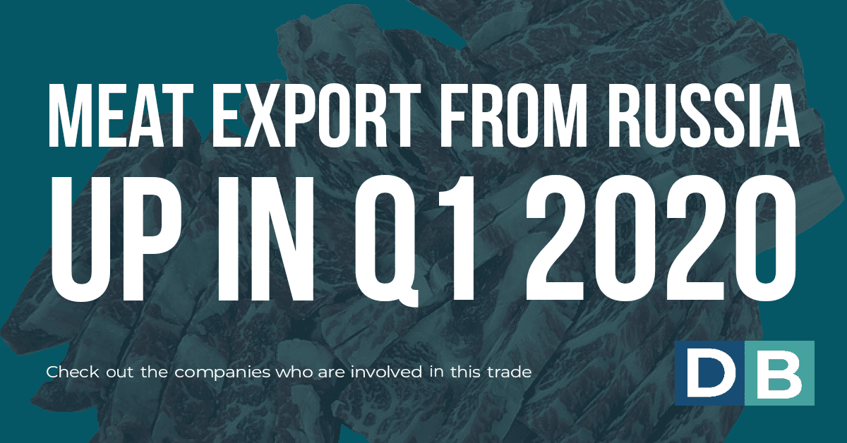 Meat Export from Russia Up in Q1 2020